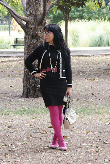 outfit+con+LBD+gafas+primark