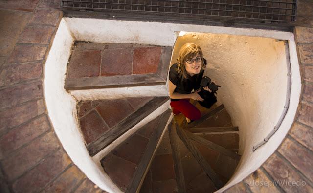 Pujant les escales del Campanar d'Ontinyent. AFCA. Fotografia Canals.