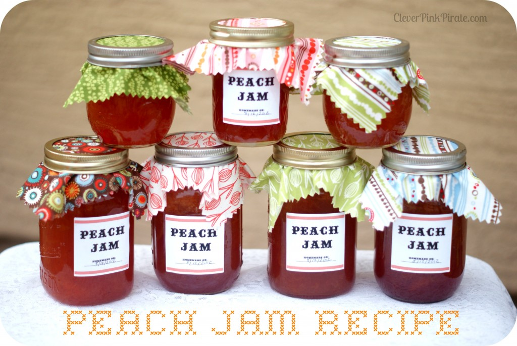 http://cleverpinkpirate.com/2012/08/21/summer-delight-peach-jam-canning-recipe-tutorial/
