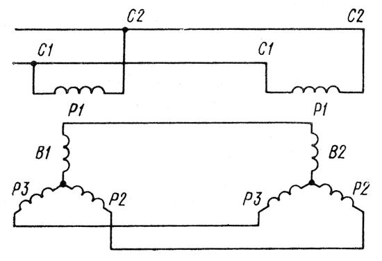 Система синхронной связи с сельсинами