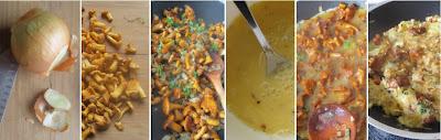 Zubereitung Omelette mit Pfifferlingen