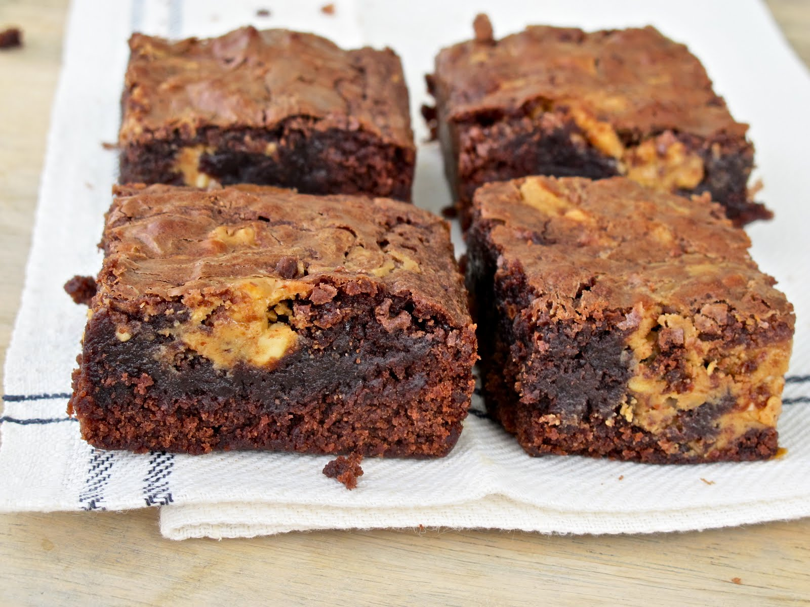 ... Peanut Butter Brownies | Chewy, Chocolate Fudge & Peanut Butter