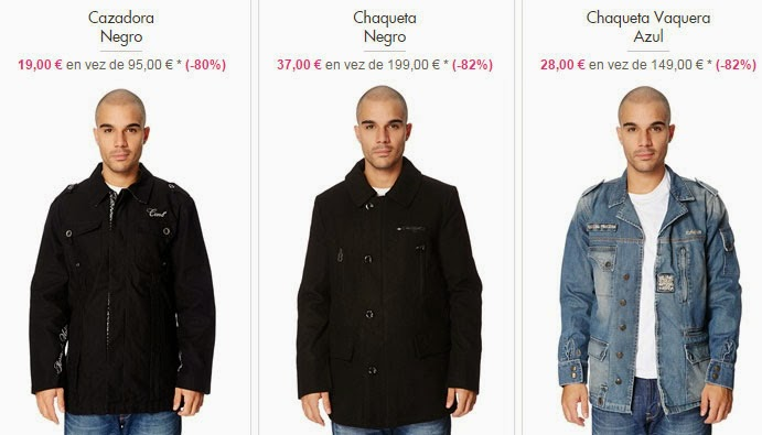 Ejemplos de chaquetas y cazadoras disponibles dentro de Com 8