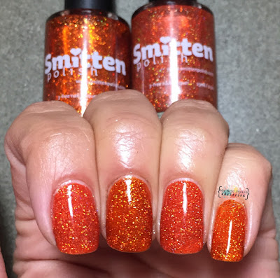 Smitten Polish Orange You Glad It's Pun-Kin Season? vs Fire Burn
