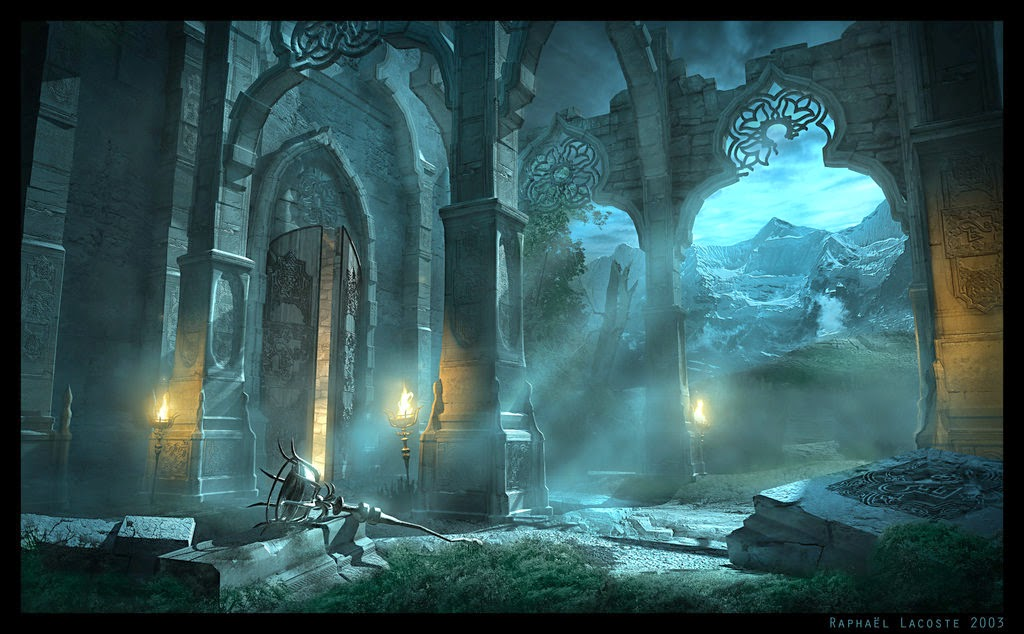 03-Malik-Shahs-Sanctuary-Raphael-Lacoste-Matte-Paintings-and-Concept-Worlds