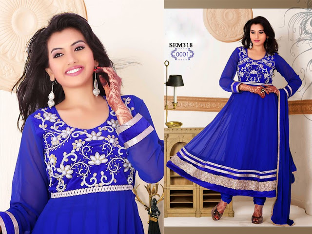 Buy Latest Khatli Work Anarkali Suit