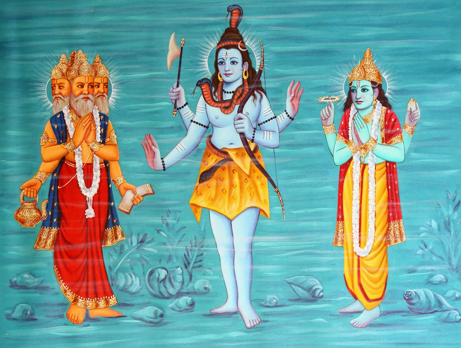 hindu trinity Best answer: the hindu trinity comprises of brahma, the creator, vishnu, the preserver and siva the destroyer brahma creates the worlds and the beings.