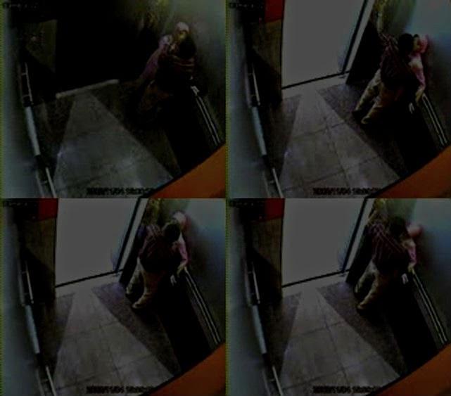 Pasangan Ini Tak Sedar Perbuatan Mereka Beromen Dirakam CCTV