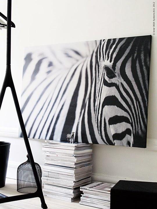 IKEA - Pjätteryd canvastavla med zebramotiv | www.var-dags-rum.se