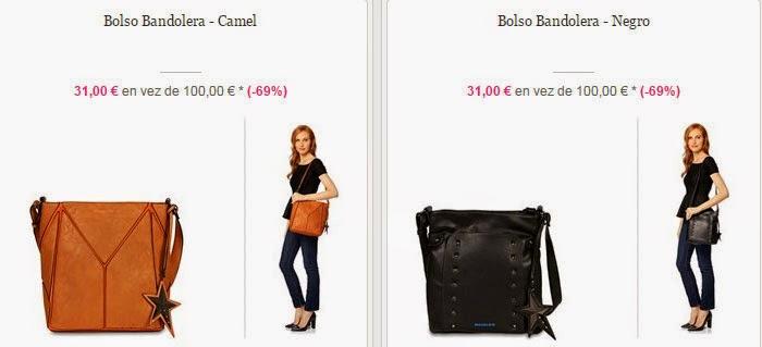 Bandoleras marrón o negro y muchas más por sólo 31 euros.