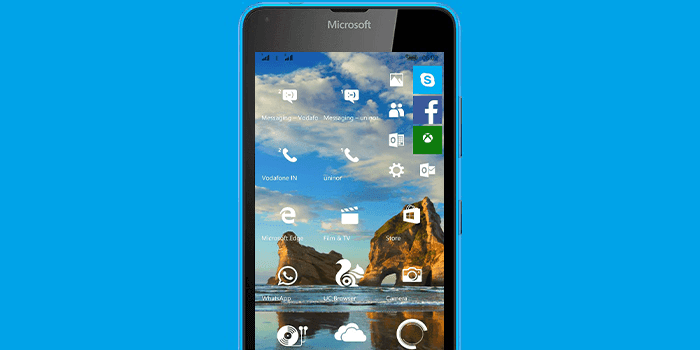 Lumia running Windows 10 Mobile