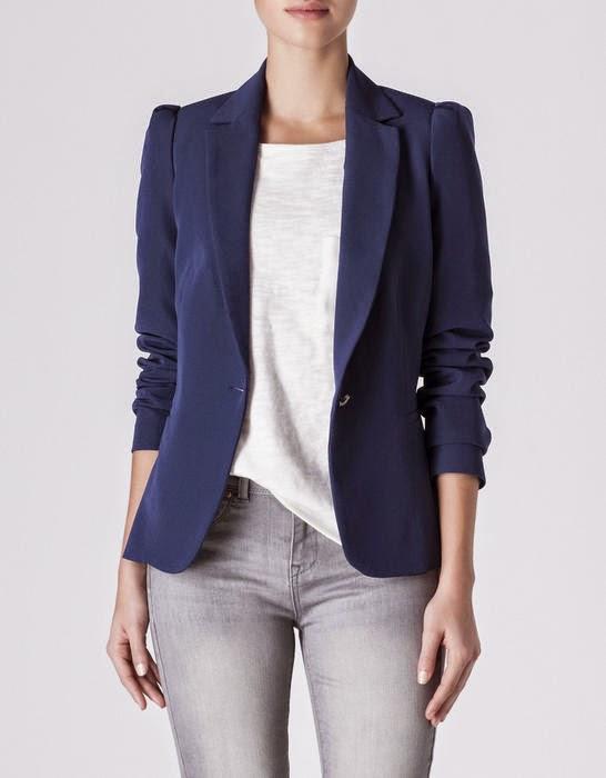 blazer azul marino