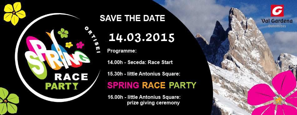 DOLOMITES Val Gardena: Spring Race Party in Val Gardena Gröden