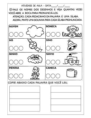 atividades de alfabetizaÇÃo exercÍcios desenhos colorir pintar
