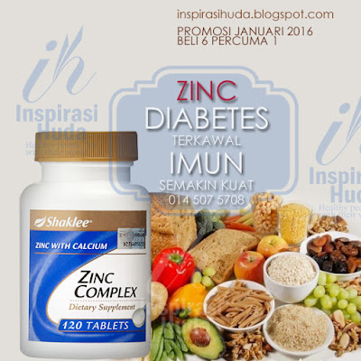 Zinc Complex, Promosi Shaklee, Diabetes, Kesuburan Lelaki, Produk Shaklee