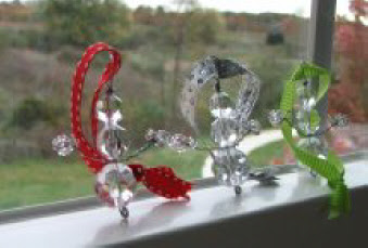 Sparkly glass bead ornaments 1