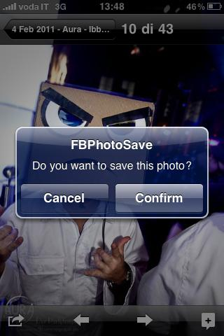 salvare foto iphone facebook
