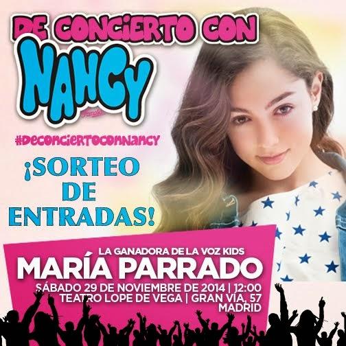 Imagen de promoción de concierto de Nancy con María Parrado de La Voz Kids y sorteo de entradas
