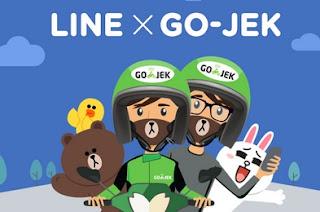 gojek line, go-jek line, goride line, gojek lewat line