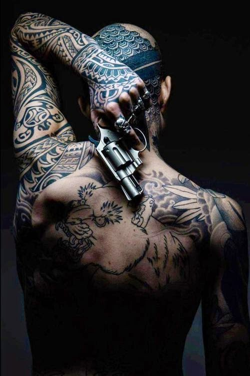 ♥ ♫ ♥ Amazing Man Back& Sleeve Tattoo ♥ ♫ ♥