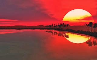KUMPULAN FOTO SUNSET INDAH Gambar Sunset Terbaik di Pantai Indonesia