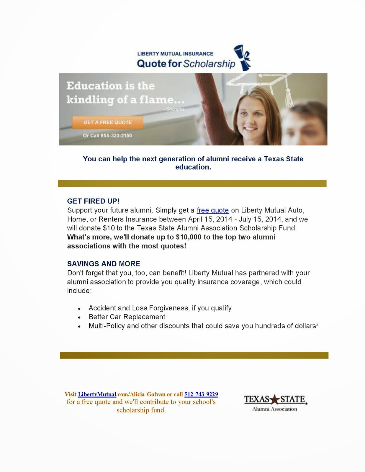 Liberty Mutual Auto Quote Mccoy College Academic Advising Blog Get A Free Quote On Liberty