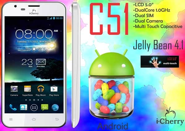i-Cherry C51, Handphone Touchscreen Dual Core Dual GSM
