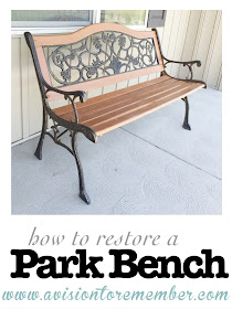 How to Restore a Park Bench with Stain Spray Paint