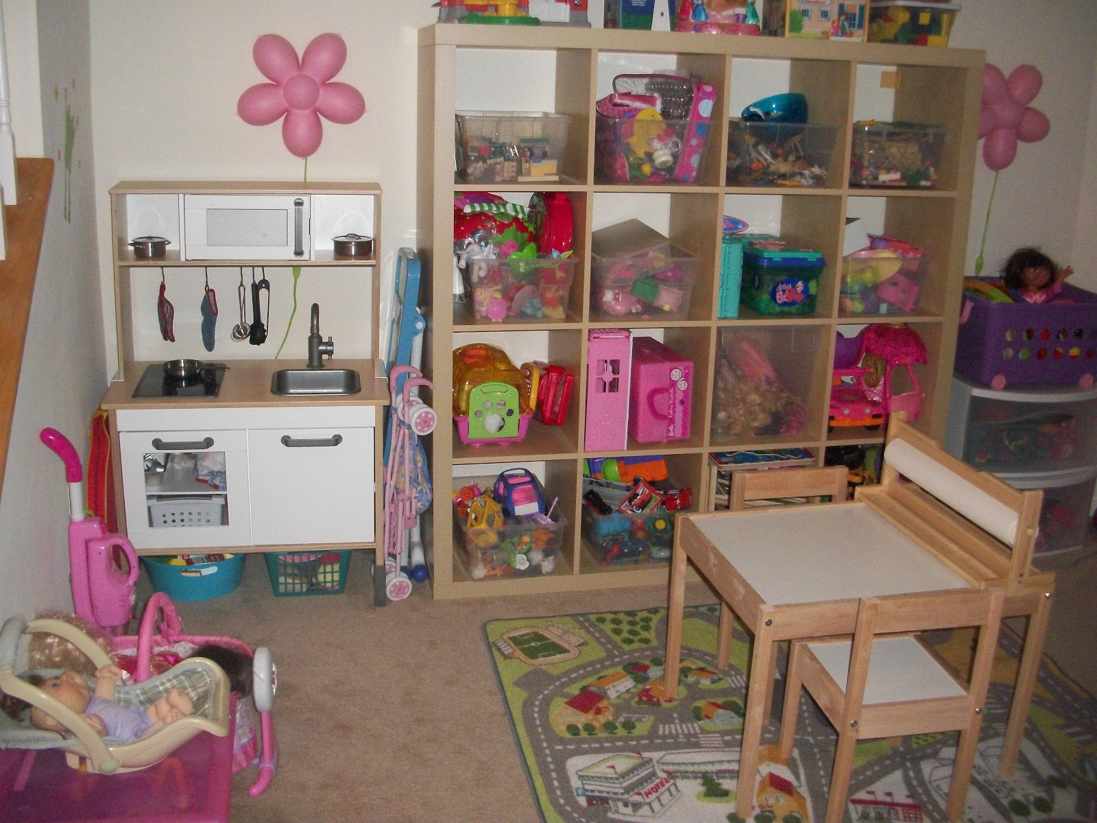 Small Shelving Girls Room