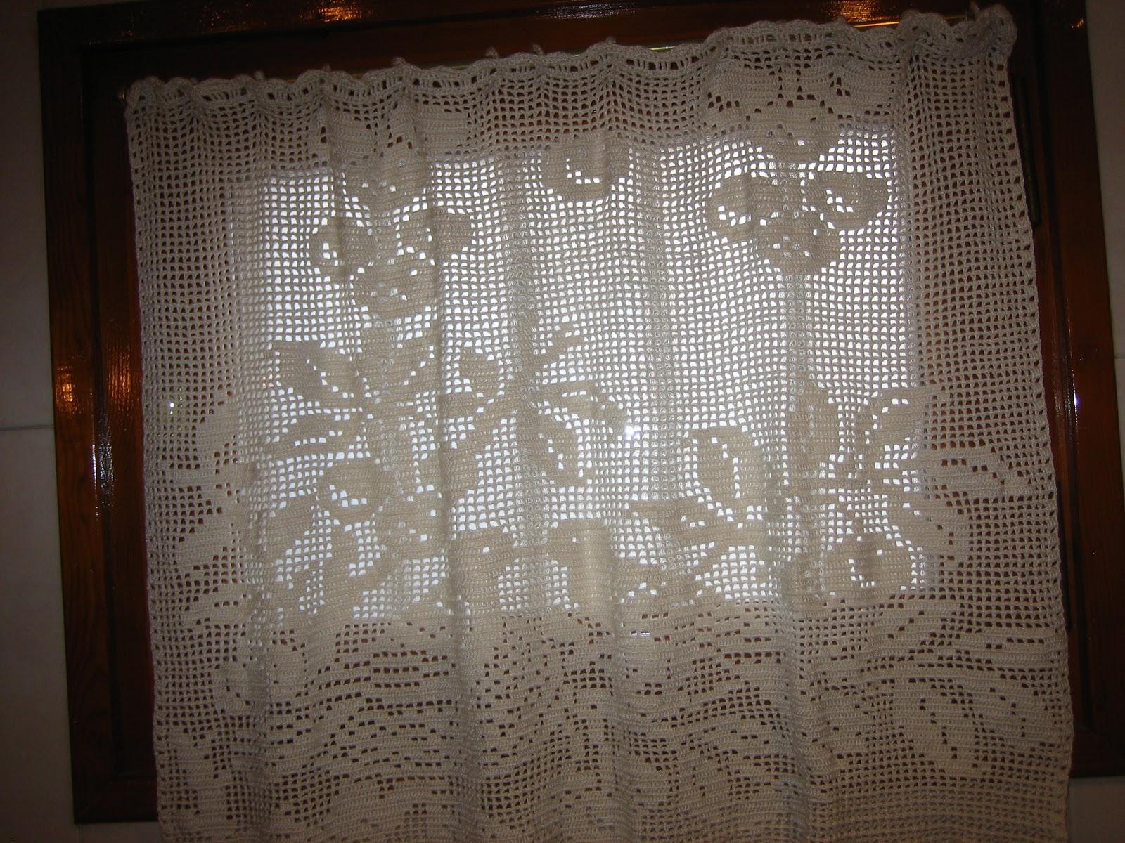 Ganchillo cortinas for Cortinas ganchillo