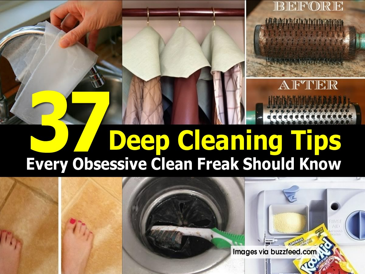 Cleaning House Deep Cleaning House Tips