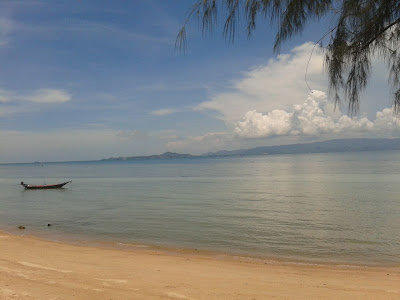 Koh Samui in the distance from Koh Phangan