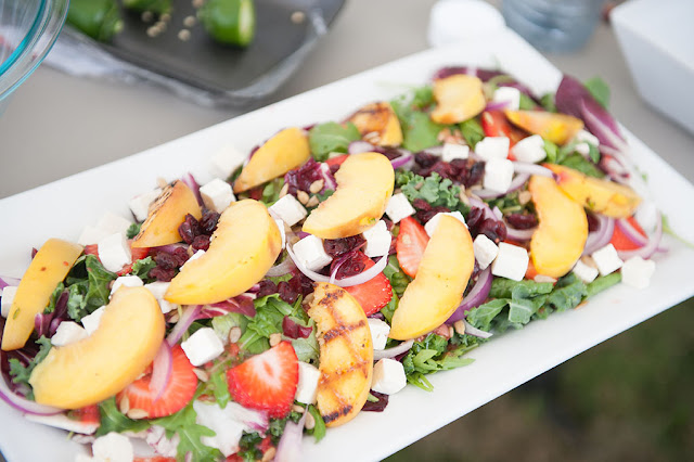 Grilled Peach Salad #KidApprovedMeals