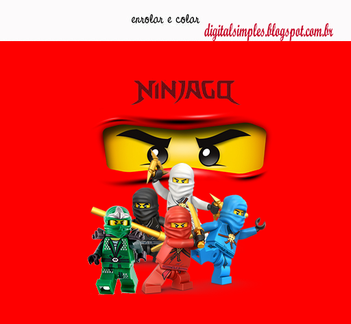"Kit Digital Aniversário ""Ninjago"" para Imprimir - Convites ..."