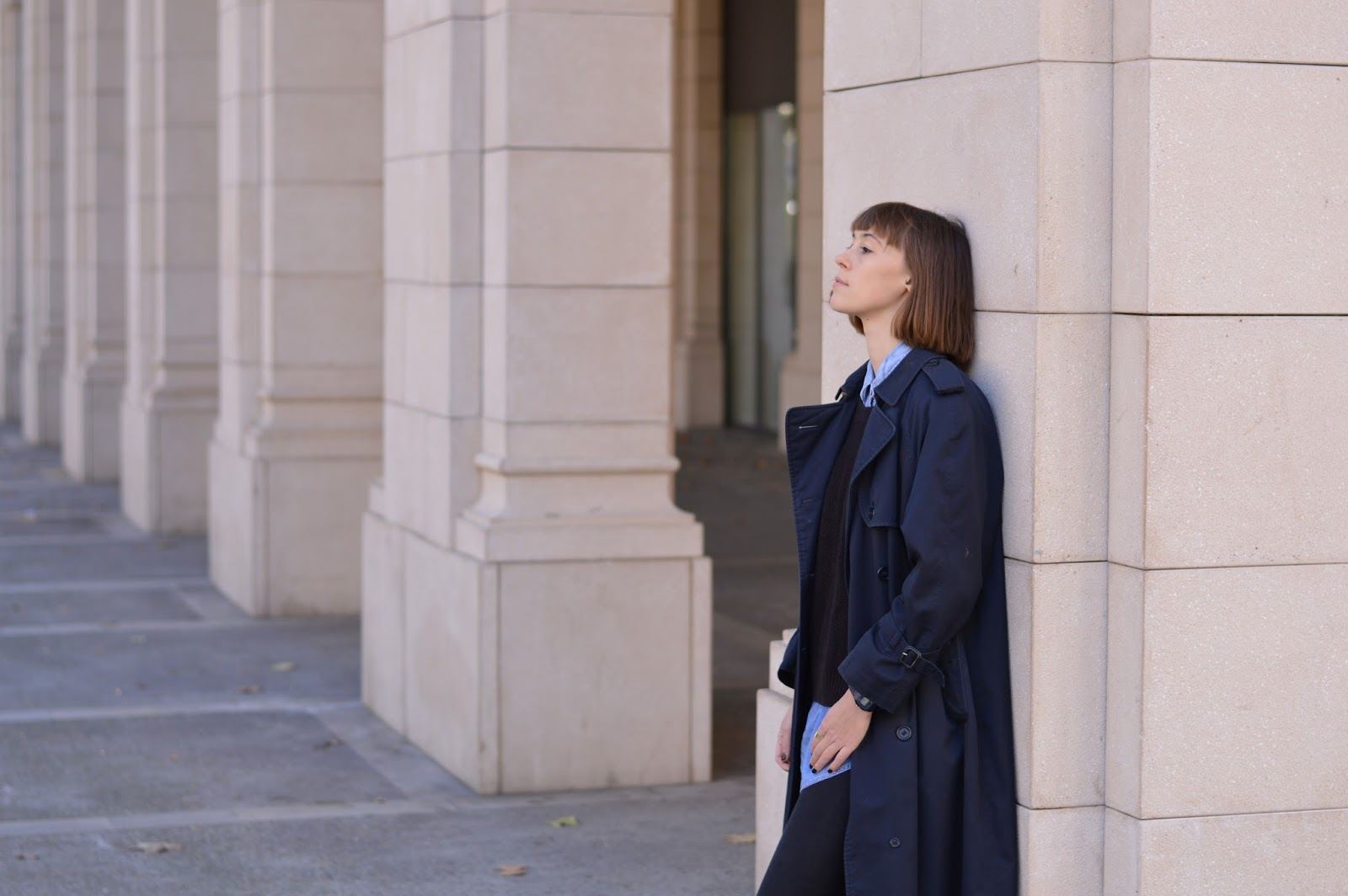 How to layer and wear black and blue
