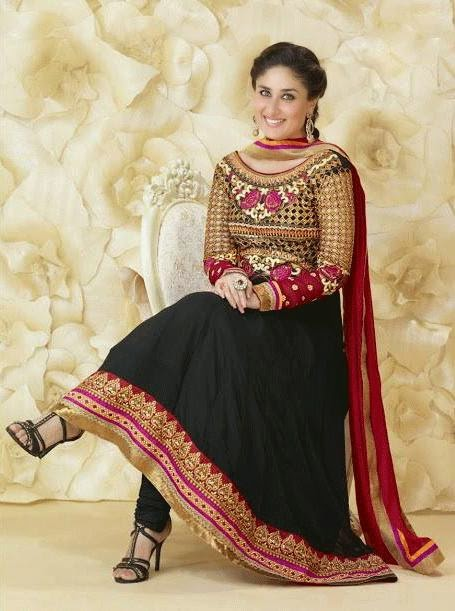 Kareena Kapoor in black anarkali suit