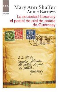 la sociedad literaria y el pastel de piel de patata de Guernsey Mary Ann Shaffer