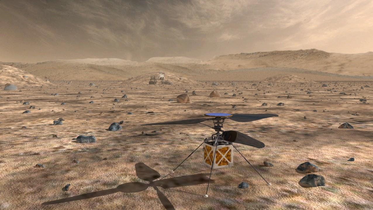 Prototipo de helicóptero en Marte diseñado por la NASA