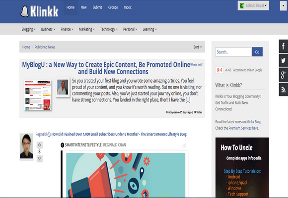 Klinkk Blogolect Blogging Communities