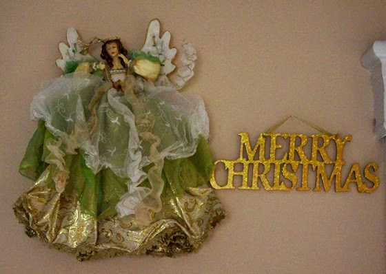 Wall Christmas decoration with an Angel