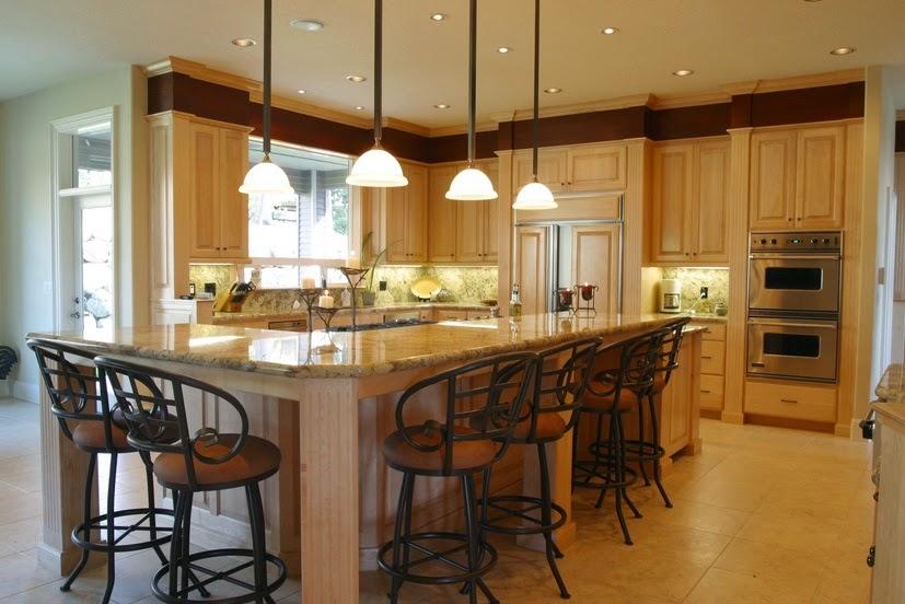interior dapur rumah mewah