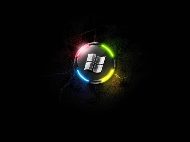 Free Download Windows 7 Black HD Wallpaper 1024x768