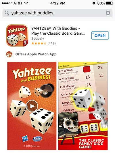 free yahtzee app