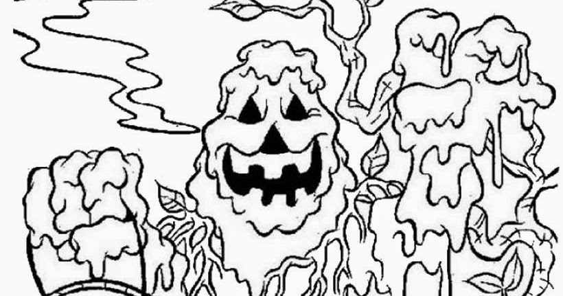 h is for halloween coloring pages - photo #38