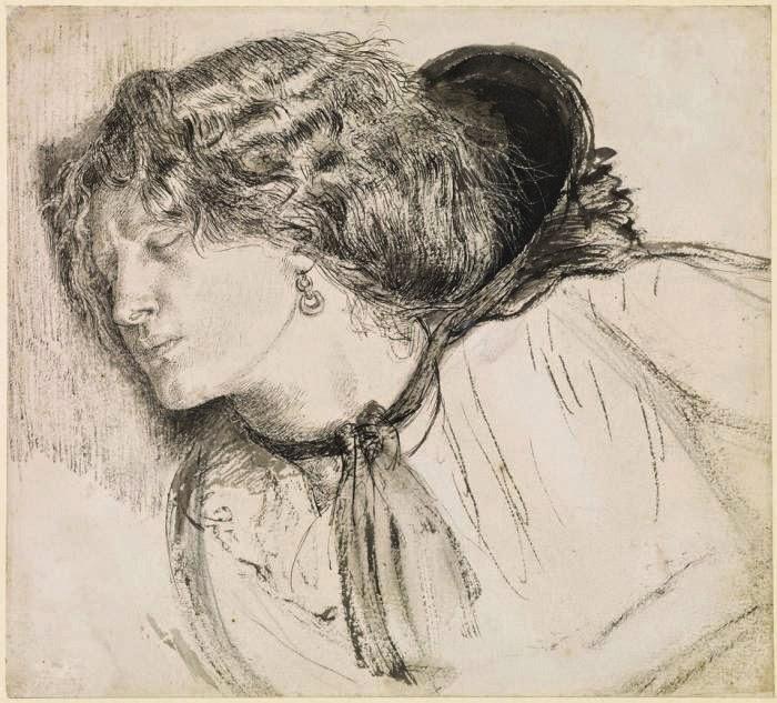 Dante Gabriel Rossetti - Fanny Cornforth - Found Study - Birmingham