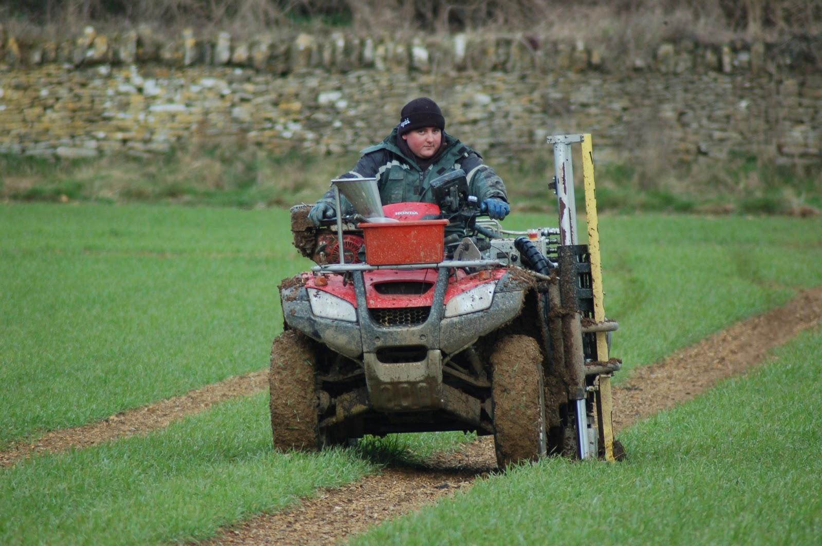 Farmer jake core sampling for nitrogen for 0200 soil core sampler