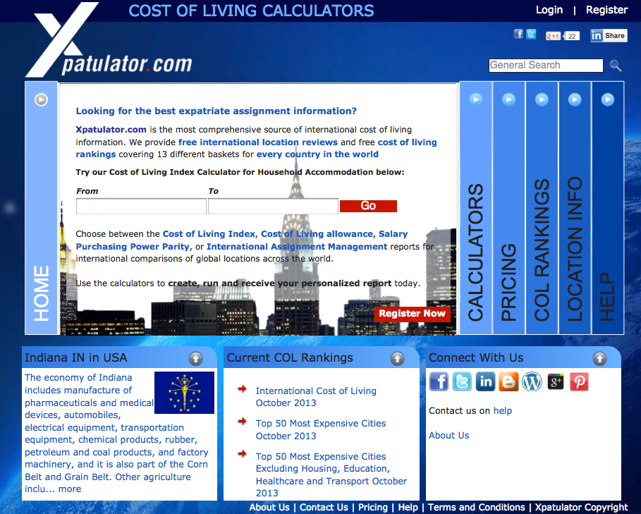 cost of living calculator Our free cost of living calculator allows you to compare the cost of living in your current city to another city you might be interested in moving to.