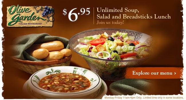 Captain dan 39 s blog unlimited soup salad breadsticks lunch for Soup salad and breadsticks olive garden