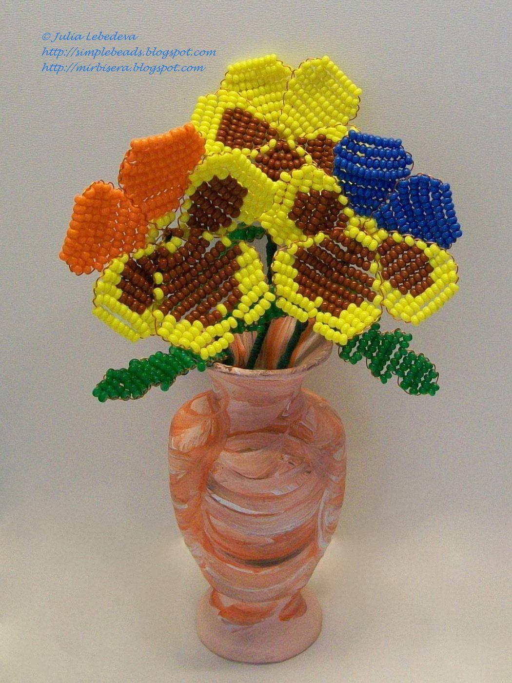 Цветы из бисера мастер классы, схемы и пошаговые 59