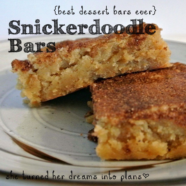 Snickerdoodle Bars, these are the best dessert bars ever!